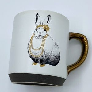 Threshold Vintage Flapper Bunny Rabbit Coffee Mug